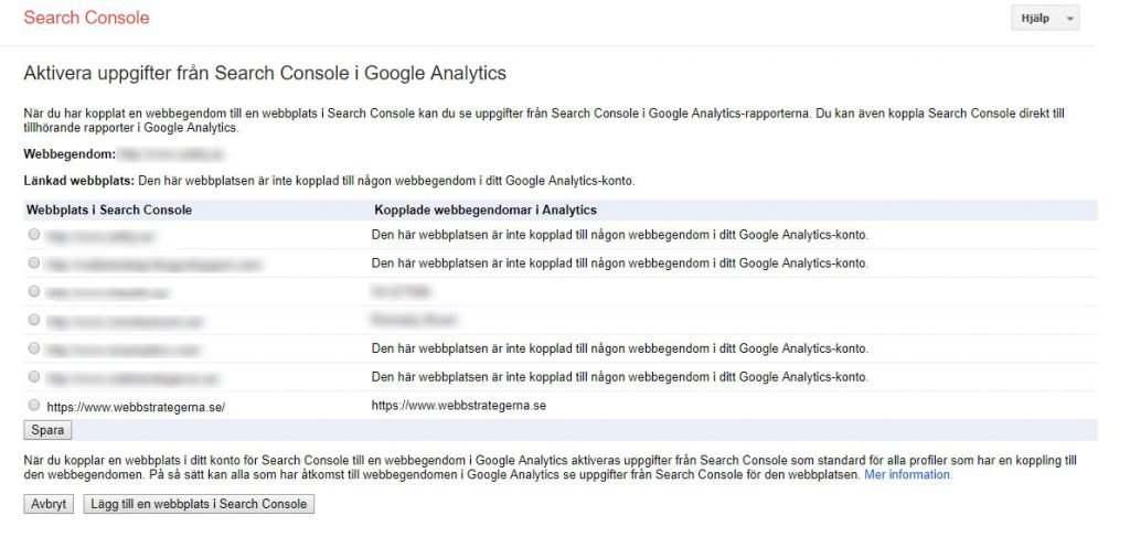 sökord google hemsida