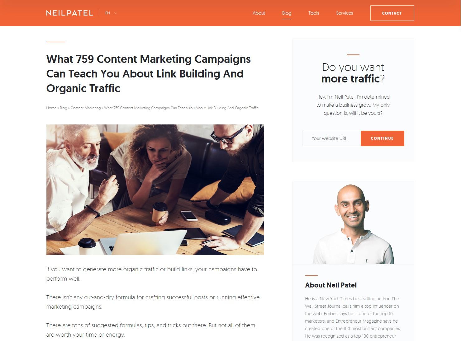 Neil Patel - Inbound Marketing Blog