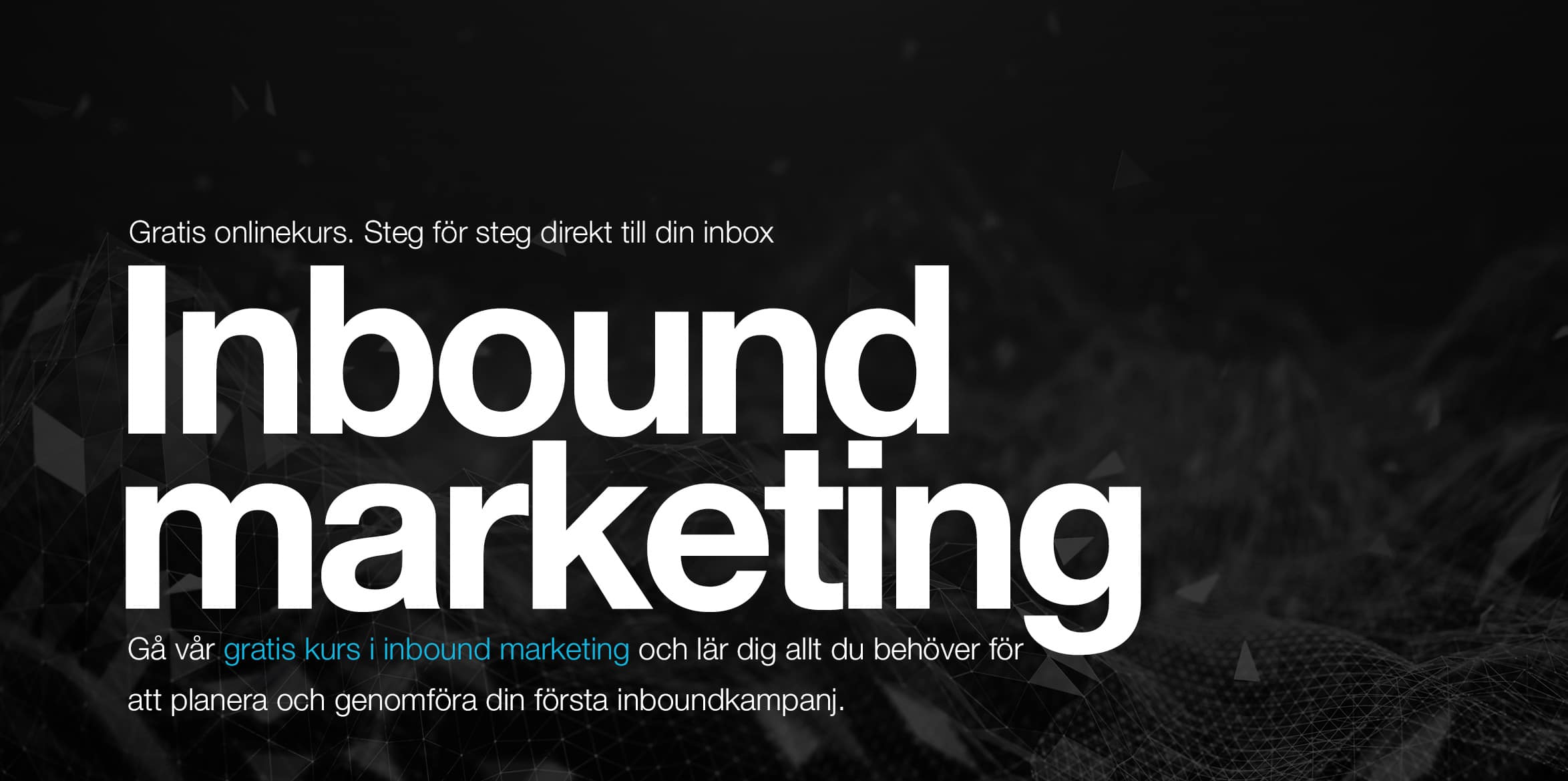 inbound marketing utbildning svenska